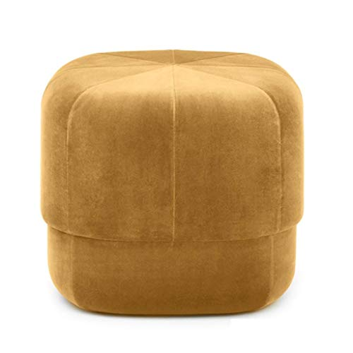 ye Home & Garden Furniture Ottoman Stool Home Upholstered Footstool Dressing Table Stool Footrest Pouffe Sofa Footstool Change Shoe Stol Kitchen (Color : Gold) (Pouffe Footrest)