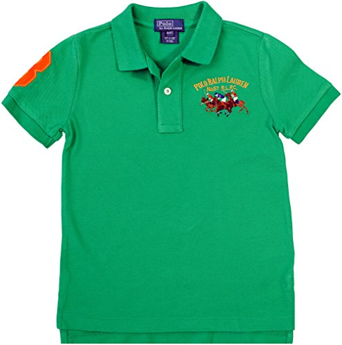 Lauren Triple Polo Boy's Pony Ralph Little PoloStem Cotton Green 8kOP0wXn