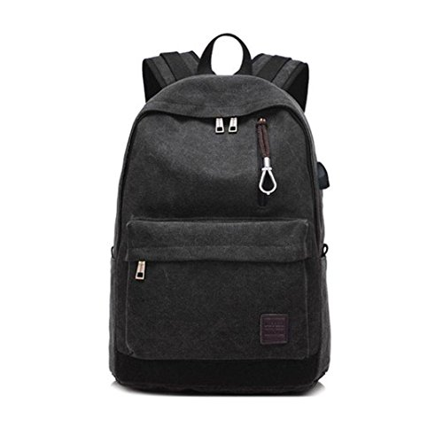 Sameno Student Laptop Backpack School Backpack Travel Backpack For Boy Men Adult (Black) by Sameno