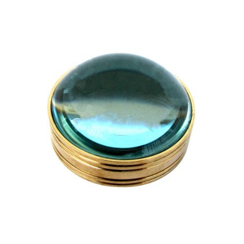 Solid Brass Desktop Magnifier Magnifying Glass Lens