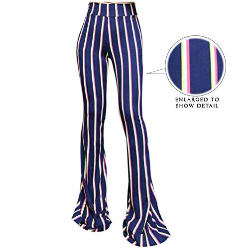 SMT Women's High Waist Wide Leg Long Bell Bottom Yoga Pants Large Highlight 3Line (in ()