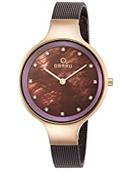 OBAKU V173LXVNMN Women's Brown Dial Classic Analog Watch with 2 Hands