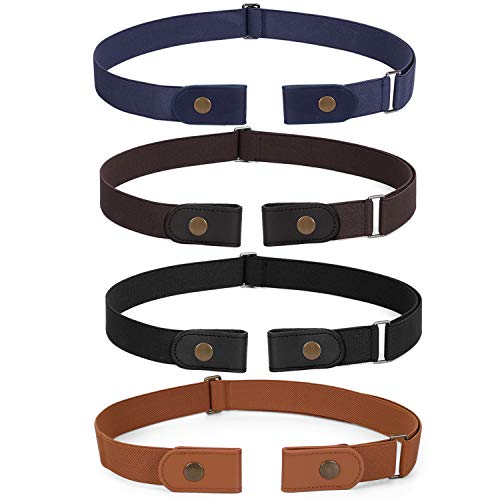 No Buckle Invisible Stretch Belt Buckle-FreeElasticBelt for Women (Suit for waist size 23