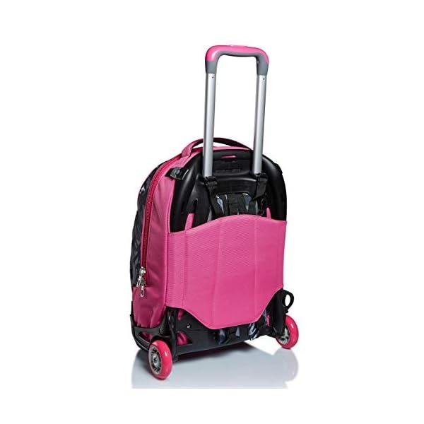 Trolley New Tech Seven, Keep Flag, Rosa, 3in1 Zaino Sganciabile, Scuola & Viaggio 4 spesavip