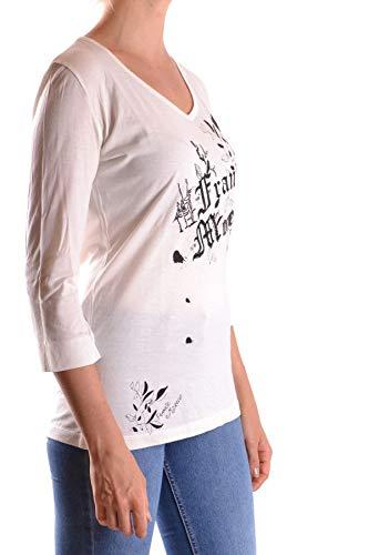 Blanc shirt Frankie Morello Mcbi25328 Femme T Coton Ynnt1qxv