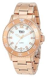 TKO ORLOGI Women's TK585-RG Rose Gold Sport Bezel Bracelet Watch