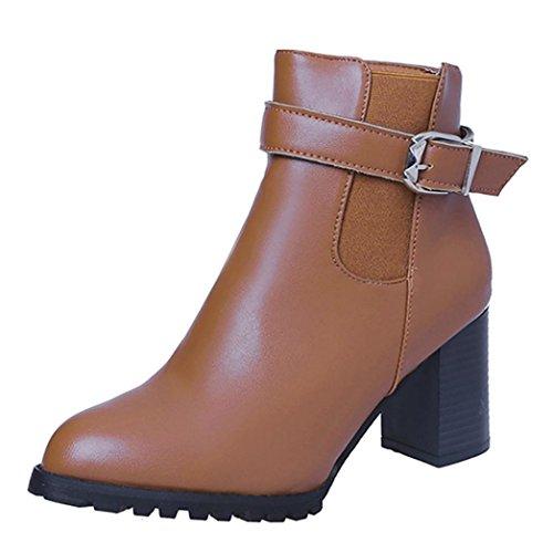 915be12a54de04 TPulling Herbst Und Winter Frühling Modelle Schuhe Mode Damen Hochhackigen  Casual PU Leder Reißverschluss Martin Stiefel