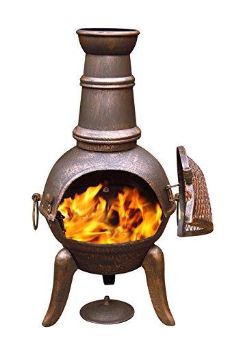 Gardeco Granada Medium Cast Iron Chimenea - Bronze (Chimenea Bronze)