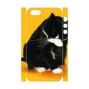 3D Case For Samsung Galaxy S3 i9300 Cover Case, Mens Designer Black Cat Washing Her Face Case For Samsung Galaxy S3 i9300 Cover {White}