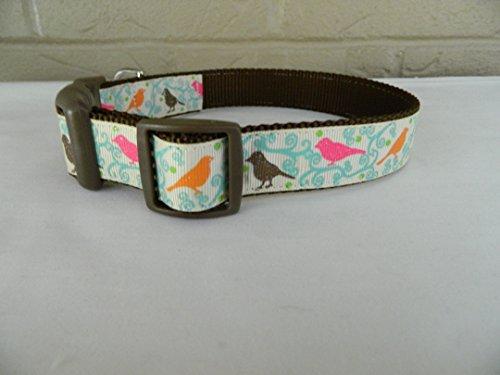Schmoopsie Couture Harvest Birds Dog Collar (Large (15