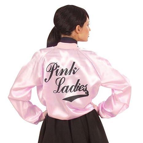 Chaqueta Colour rosa de lunares Mujer 50er 70er OLIVIA T-Birds para musical de la película: Amazon.es: Juguetes y juegos
