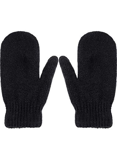 Zhehao Women Knitted Mittens Winter Warm Gloves Solid Color Hand Warmer Indoor Outdoor Activities