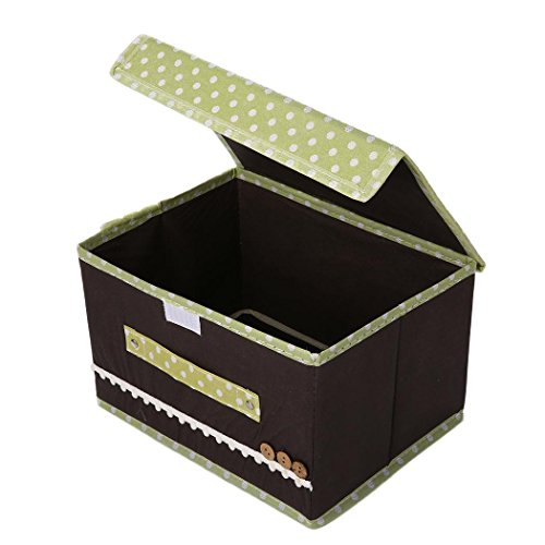 Miuniu Foldable Storage Bins Cubes Boxes with Lid - Storage Box Cube Cubby Basket Closet Organizer with Handles for Closet Bedroom
