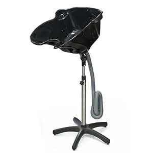 Generic Portable Height Adjustable Shampoo Basin Hair Treatment Bowl Salon Tool Black