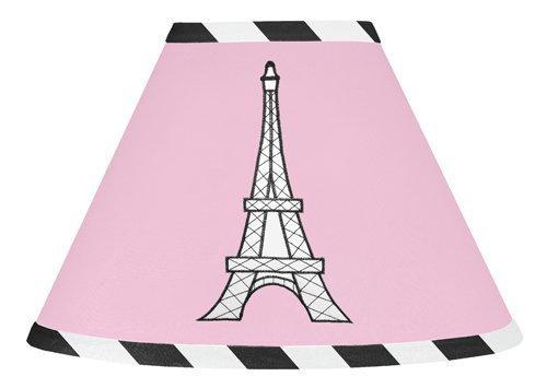 Sweet Jojo Designs Pink, Black and White Paris French Eifell Tower Lamp Shade
