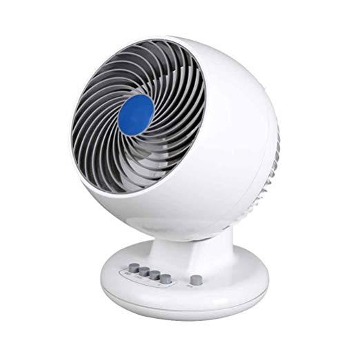 Gelaiken Desktop Fan Home Fan Fan Fan Fan, Home Office Ultra-Quiet Desk Fan Student Dormitory Fan, White,White Table Desk Fan for Home and Travel (Color : White) by Gelaiken (Image #1)