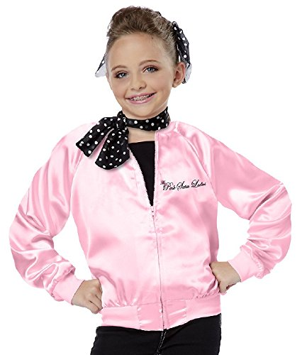 Pink Lady Costume Girl (California Costumes The Pink Satin Ladies Child Costume, Small)