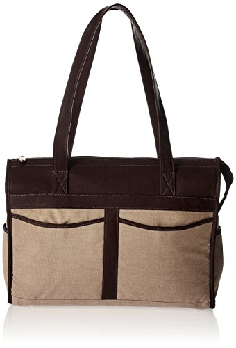 Piel Leather Travel Tote Bag, Chocolate