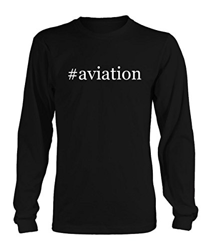 #aviation - Hashtag Adult Men's Long Sleeve T-Shirt - Various sizes & colors!, Black, X-Large - Aviation Long Sleeve T-shirt