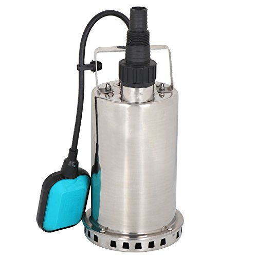 HomGarden 1 HP Stainless Steel Submersible Sump Pump Dirty Clean Water Pump w/26ft Cable (Sump Stainless Pump Steel)