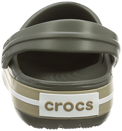Crocs Crocband Clog Zuecos con Correa, Unisex Adulto Gris (Dusty Olive/Khaki)