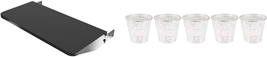 """Traeger Pellet Grills BAC362 Folding Shelf, 25"""" L x 12"""" W, Black & Traeger Grills BAC407z 5-Pack Bucket Liner, Basic Pack"""