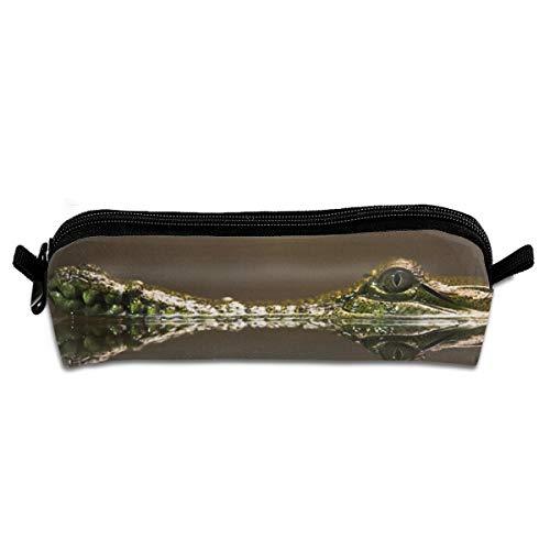 Kui Ju Pencil Bag Pen Case Crocodile Hunt Underwater Cosmetic Pouch Students Stationery Bag Zipper Organizer