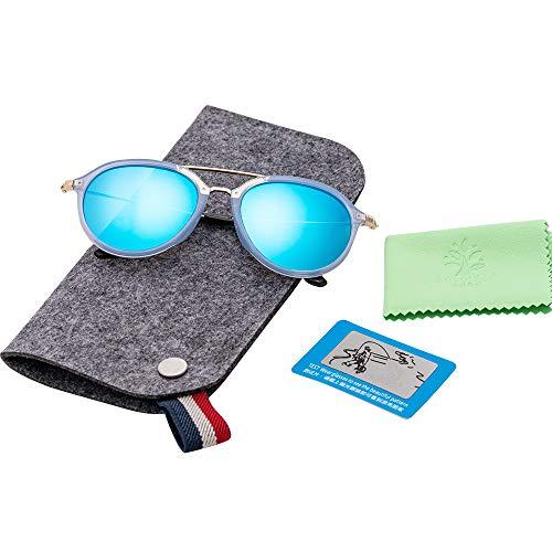 kocotree Kids Sunglasses Baby Boys Glasses Polarized Girl's Sunglasses Personality Protection Against UV Age 2-10(blue)