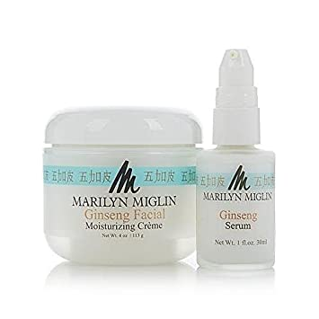 Marilyn Miglin Ginseng Facial Moisturizing Creme Kiss My Face Moisture Shave, Green Tea & Bamboo  3.4 oz (Pack of 4)