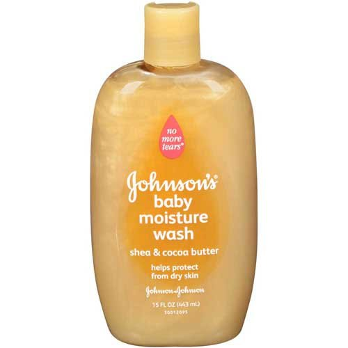 Johnson & Johnson 002494 Baby Moisture Wash with Shea & Cocoa Butter, 15 fl. oz. (Pack of 24) by Johnson
