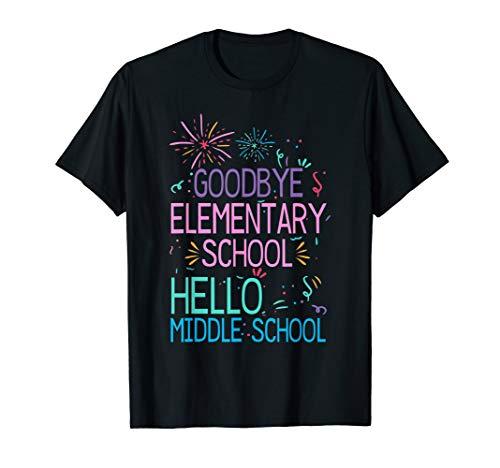 Hello Middle School Graduation Elementary School Shirts Gift