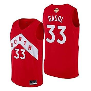 K&A Camiseta Marc Gasol Toronto Raptors Earned Edición Swingman Rojo NBA Finals 2019,Camiseta Hombre