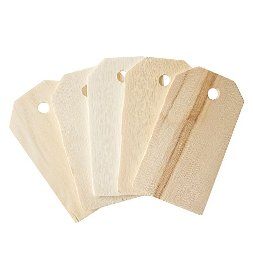 Wine Bottle Gift Tags (Blank Wooden Gift Tags Labels 2-1/4