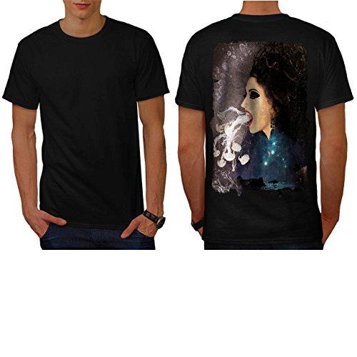 Vampire Witch Spell Occult Mist Men NEW L T-shirt Back | Wellcoda