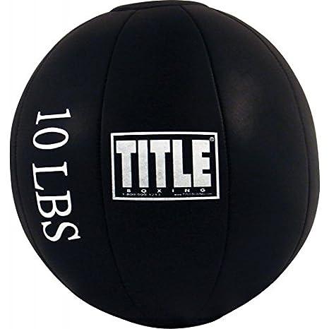 Título de boxeo piel sintética balón medicinal, 20 lbs: Amazon.es ...