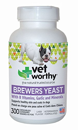 Vet Worthy Brewers Yeast with Garlic Liver Flavored Chewables for Dogs (300 Count) ()