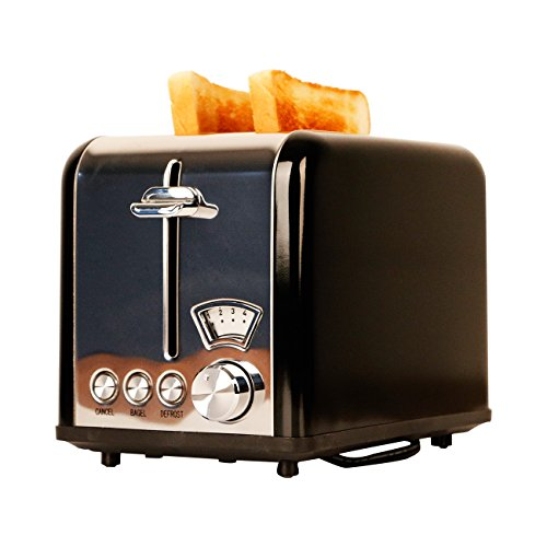 Gohyo 2 Slice Toaster | Stainless Steel with Wide Slots & Removable Crumb Tray for Bread & Bagels by Gohyo