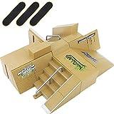 MoMaek 8pcs Professional Skate Park Kit Ramp for Mini Fingerboards Finger Skateboard