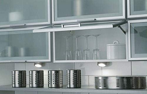 Breite 45cm Premium-Ambiente BBC03 H/ängeschrank 1-klappt/ür Fachboden Matt-Glas Gaszylinderd/ämpfer in Alurahmen Montageschiene inklusive