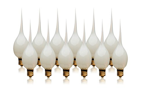 LightLady Studio - Silicone Dipped Candle Light Bulbs - Pack of 12 - Wholesale 7 Watt Light Bulb - Silicone Bulbs for Candles, Silicone Dipped Light Bulbs ()