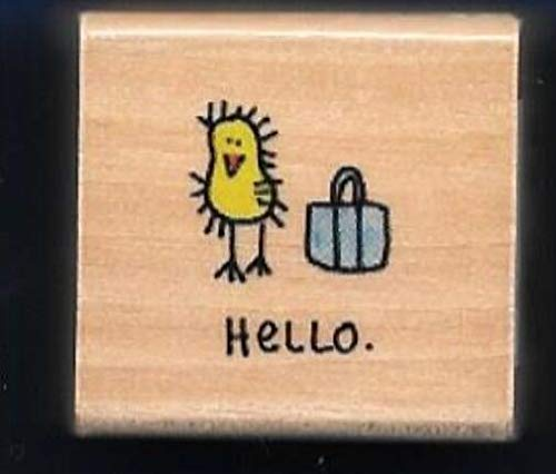 Rubber Stamp Frames Hello Chick Purse Girls Tote Bag New Gift Tag Word Rubber Stamp