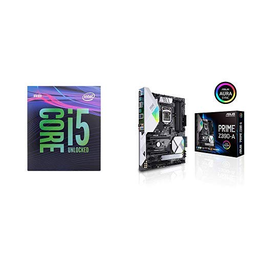 Intel Core i5-9600K Desktop Processor 6 Cores up to 4.6 GHz Turbo Unlocked with Prime Z390-A Motherboard LGA1151 ATX DDR4 DP HDMI M.2 USB 3.1 Gen2 Gigabit LAN