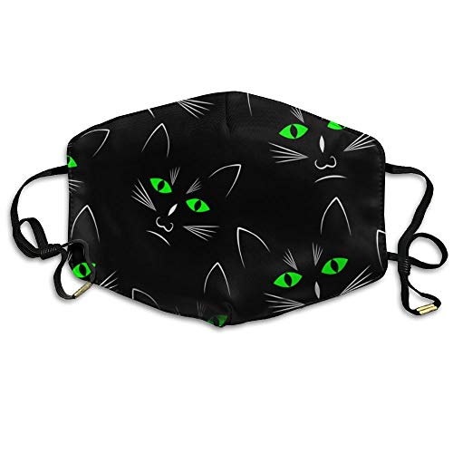 Black Cats Heads Seamless Unisex Face Mask Ear-loop Dust Mask Cycling Reusable Mask