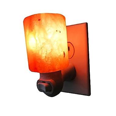 Dream Salts Himalayan Salt Night Light / Natural Crystal Lamp / Decorative Air Purifier Wall Plugin (Cylinder )