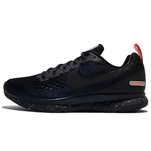 (Nike Women's Air Zoom Pegasus 34 Running Shield Shoe Black/Black-Black-Obsidian 7.5)