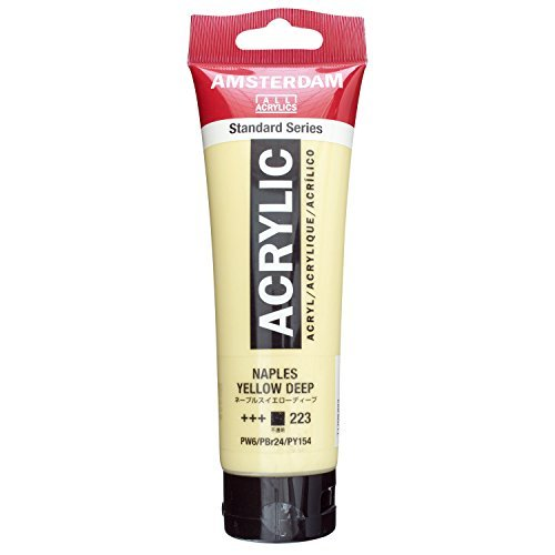 Naples Naples Single (AMSTERDAM ACRYLIC 120ML NAPLES YELLOW DEEP SINGLE TUBE)