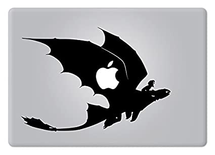 Hiccup and toothless how to train your dragon macbook laptop decal vinyl sticker apple mac air