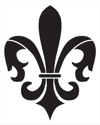 Fleur De Lis Stencil by StudioR12 | French Flower Art - Large 11.5 x 14-inch Reusable Mylar Template | Painting, Chalk, Mixed Media | Use for Wall Art, DIY Home Decor - STCL250
