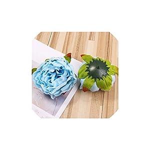 5pcs/lot 10cm Peony Flower Head Silk Artificial Flower Wedding Decoration DIY Garland Craft Flower,2 51