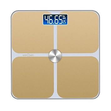 Original 180 Kg 4 Colores Básculas de Piso de Temperatura para el Hogar Digital de Cuerpo Escala de Pesaje LCD, Oro: Amazon.es: Hogar